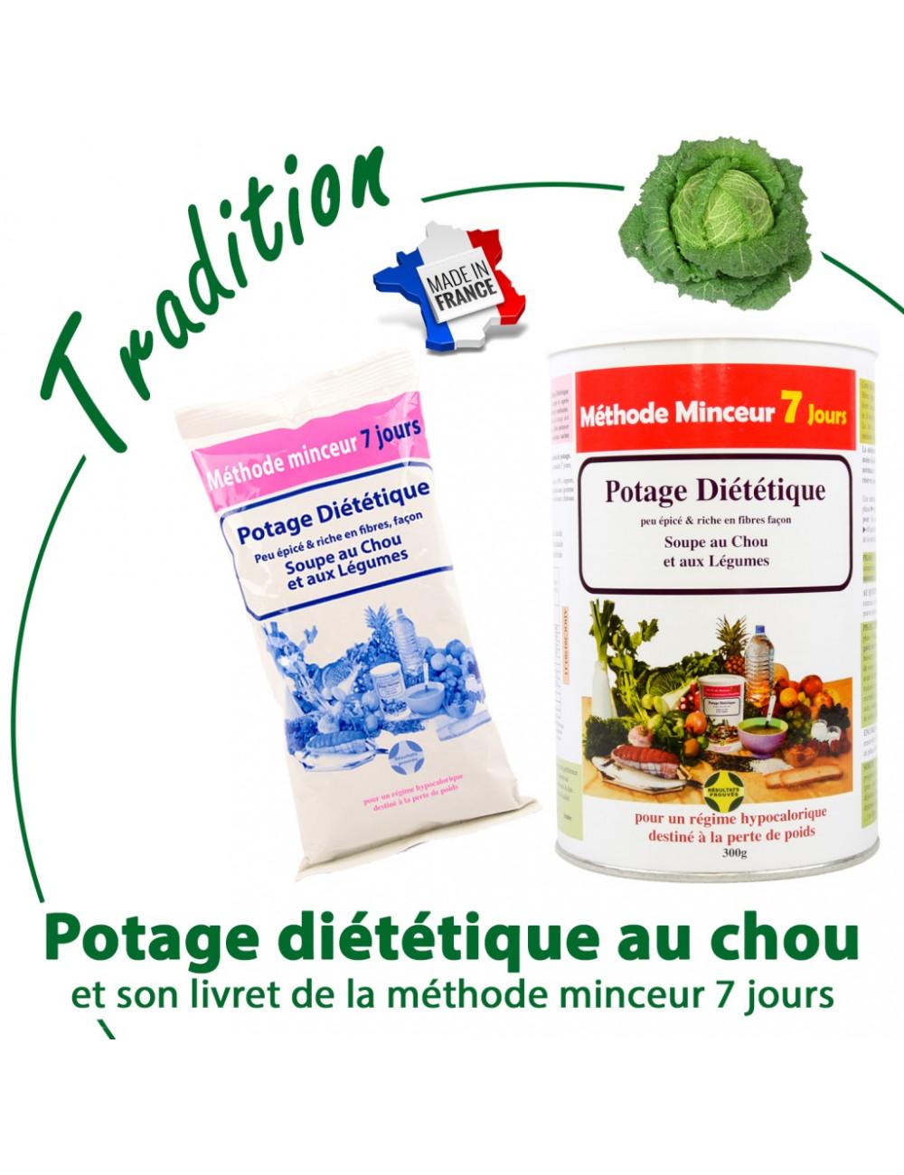 Méthode minceur 7 jours avec soupe/potage diététique pour perdre de poids en 7 jours seulement et une silhouette affinée